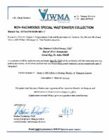 Appendix H-1 VIWMA sewerage disposal