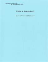 Exhibit 4, Attachment D